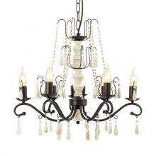 Chattisham lampa wisząca 69cm 8x40W E14 230V brąz/biel