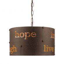 Coldingham lampa wisząca 43cm 3x60W E27 230V brąz/rdzawa
