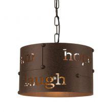 Coldingham lampa wisząca 32cm 1x60W E27 230V brąz/rdzawa