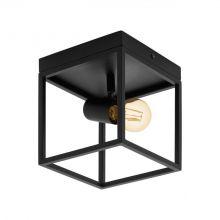 Silentina lampa sufitowa 1x40W E27 czarna