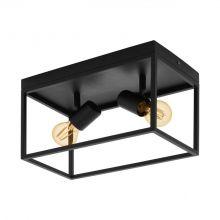Silentina lampa sufitowa 2x40W E27 czarna