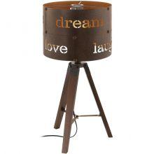 Coldingham lampa stołowa 1x60W E27 230V brąz/rdzawa