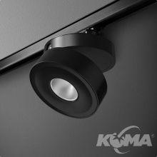 Qrled reflektor na szynoprzewód 8W LED 230V czarny (mat) neutralna barwa CRI>80