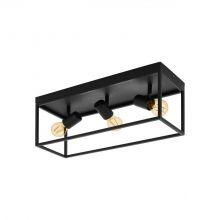 Silentina lampa sufitowa 3x40W E27 czarna