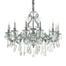 Gioconda żyrandol lampa wisząca 12x40W E14 230V srebrna