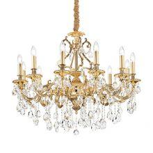 Gioconda żyrandol lampa wisząca 12x40W E14 230V złota