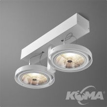 Bares reflektor biały (mat) 2x100W AR111 230V