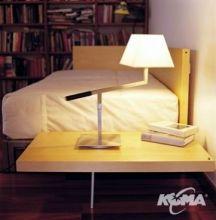 Carlota lampa stolowa 1x60W E27 nikiel z ciemną skórą/ biała bawełna