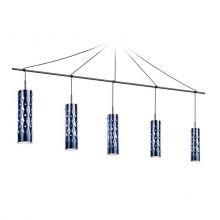 Dimple lampa wisząca niebieska 5x8W E27 230V