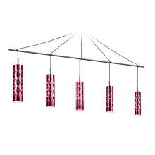 Dimple lampa wisząca różowa 5x8W E27 230V