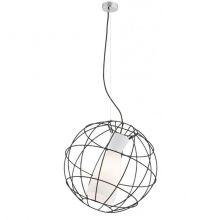 Mondego lampa wisząca 1x60W E27 230V czarna - biały klosz