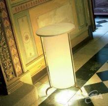 Peana 01 lampa stol 1x100W E27 chrome bialy