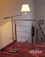 Carlota lampa podlogowa 1x60W E27 ciemny braz bawelna