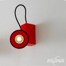 Minbox kinkiet ścienny 10W led 3000K CRI 90 czerwony