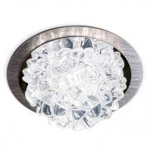 Ice oprawa wpuszczana 5W LED 3000K 230V transparentna/szczotkowane aluminium