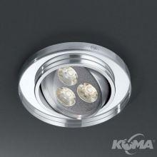 Arla oprawa wpuszczana 3W LED 3000K 230V transparentna/szczotkowane aluminium