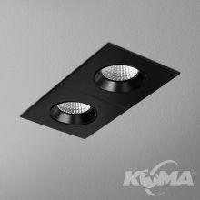 Hollow oprawa wpuszczana 18W LED 3000K 230V czarny mat