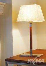 Tau mini lampa stolowa 1x60W E27 skora cuir/len