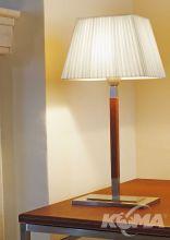 Tau mini lampa stolowa 1x60W E27 skora cuir/wstazka biala