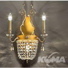Elegantia kinkiet 3x40W/E14 złoty wykończenie cięty kryształ
