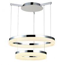 Zola lampa wisząca 24W+18W LED 230V chrom