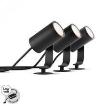 Lily Hue reflektor zewnętrzny 3x8W LED 230V czarny + zasilacz