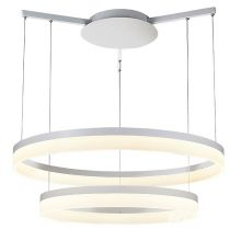 Zola lampa wisząca 32W+24W LED 230V biała