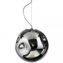 Simao lampa wisząca 1x60W E27 chrom / przydymione szkło