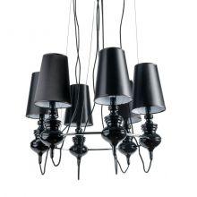 Baroco lampa wisząca 6x11W E14 230V czarna