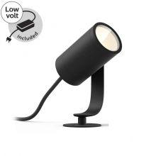 Lily Hue reflektor zewnętrzny 8W LED 230V czarny + zasilacz