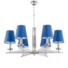 Natalia lampa wisząca żyrandol nikiel mat 6x40W E14