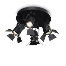 Ciak kinkiet / plafon / reflektor 4x50W GU10 czarny
