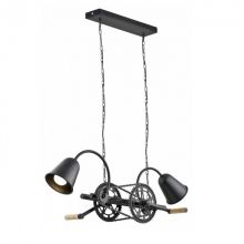 Bike lampa wisząca 2x60W E27 230V czarna