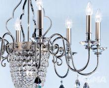 Elegantia Żyrandol chrom kryształ cięty 12x40w+1x60W