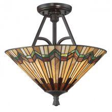 Alcott lampa sufitowa 2x60W E27 230V brąz/mozaika