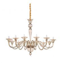 Brigitta lampa wisząca bursztynowa 12x40W E14