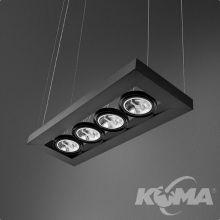 Cadva lampa wisząca czarna (mat) 4x100W AR111 230V