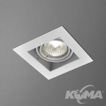 Squares lampa wpuszczana 1x50W GU5.3GU5\.3 |GU5\.3 |GU5\.3 |GU5\.3 | MR16 12V biały struktura
