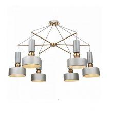 Void lampa wisząca szara klosz metalowo-akrylowe 6x40W E14