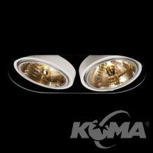 Haydo R21 lampa wpuszczana 2x50W G53 12V biała
