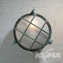 Plafoniera zewnętrzna IP54 58W antyczna zieleń 25 /matowe szkło