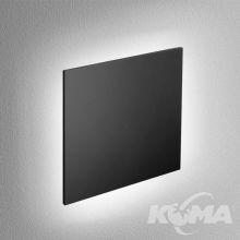Maxi Point square kinkiet wpuszczany do płyt G/K 4W LED 3000K 230V czarny mat