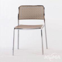 Audrey shiny krzeslo 52x51x80cm aluminiowy-piaskowy