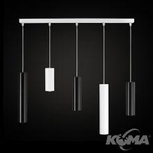 Piano lampa wisząca biało-czarna 5x50 GU10