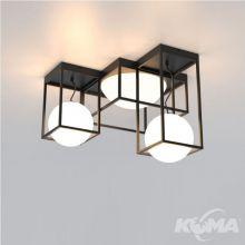 Desigual lampa sufitowa 5x20W E27 szkło opal czarna
