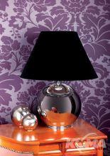 Art lampa biurkowa 1x60W E27 230V chrom / czarny abażur