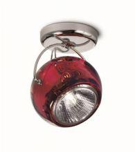 Beluga colour kinkiet chrom 1x7W GU10 czerwony