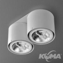 Tuba lampa sufitowa 2x50W G53 230V biała (mat)