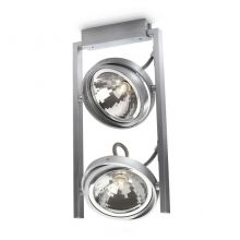 Futura lampa sufitowa reflektor 2x42W G9 230V aluminium