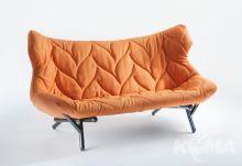 Foliage kanapa 175x84x94cm cloth pomaranczowy/czarny